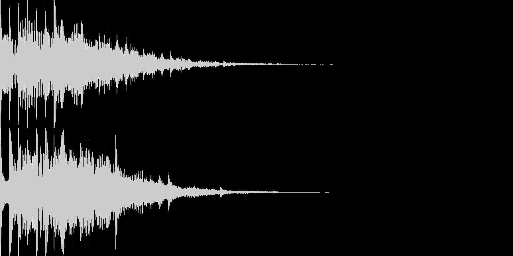 スタート音08の未再生の波形