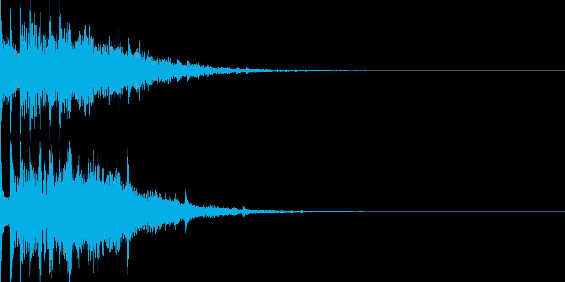 スタート音08の再生済みの波形