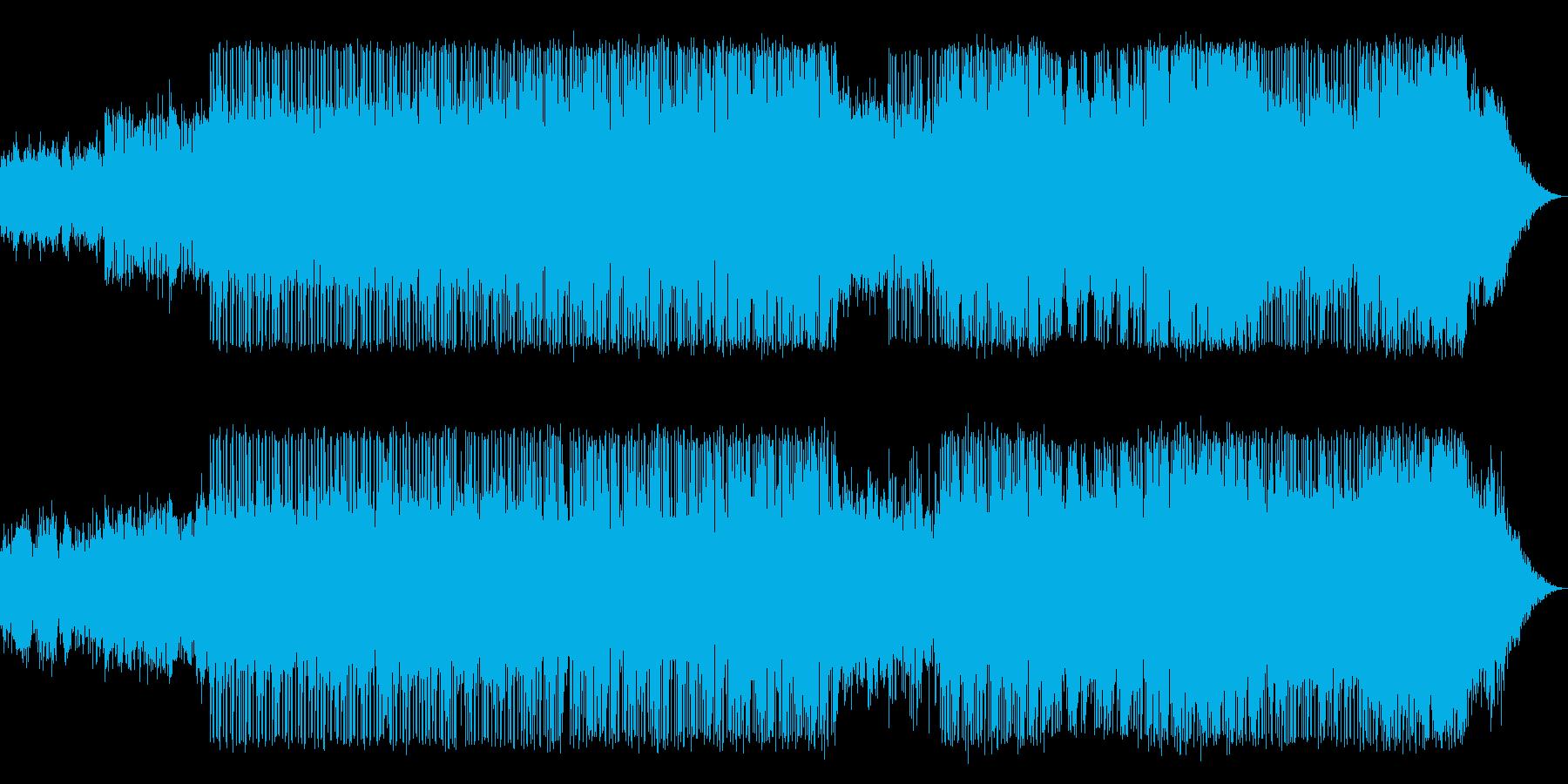 ホラーなアンビエントの電子音楽の再生済みの波形