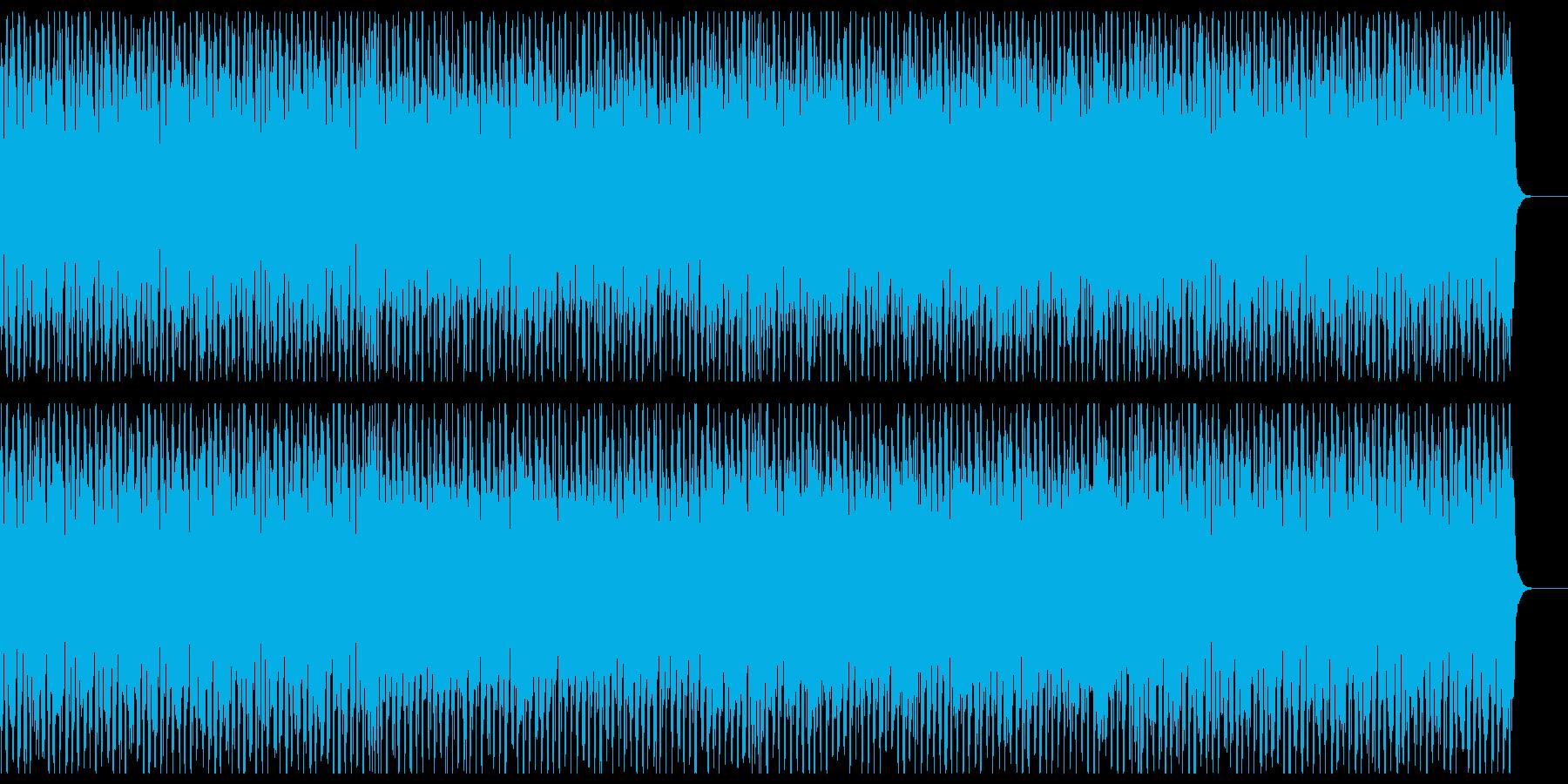闘争心を感じる4つ打ち曲の再生済みの波形