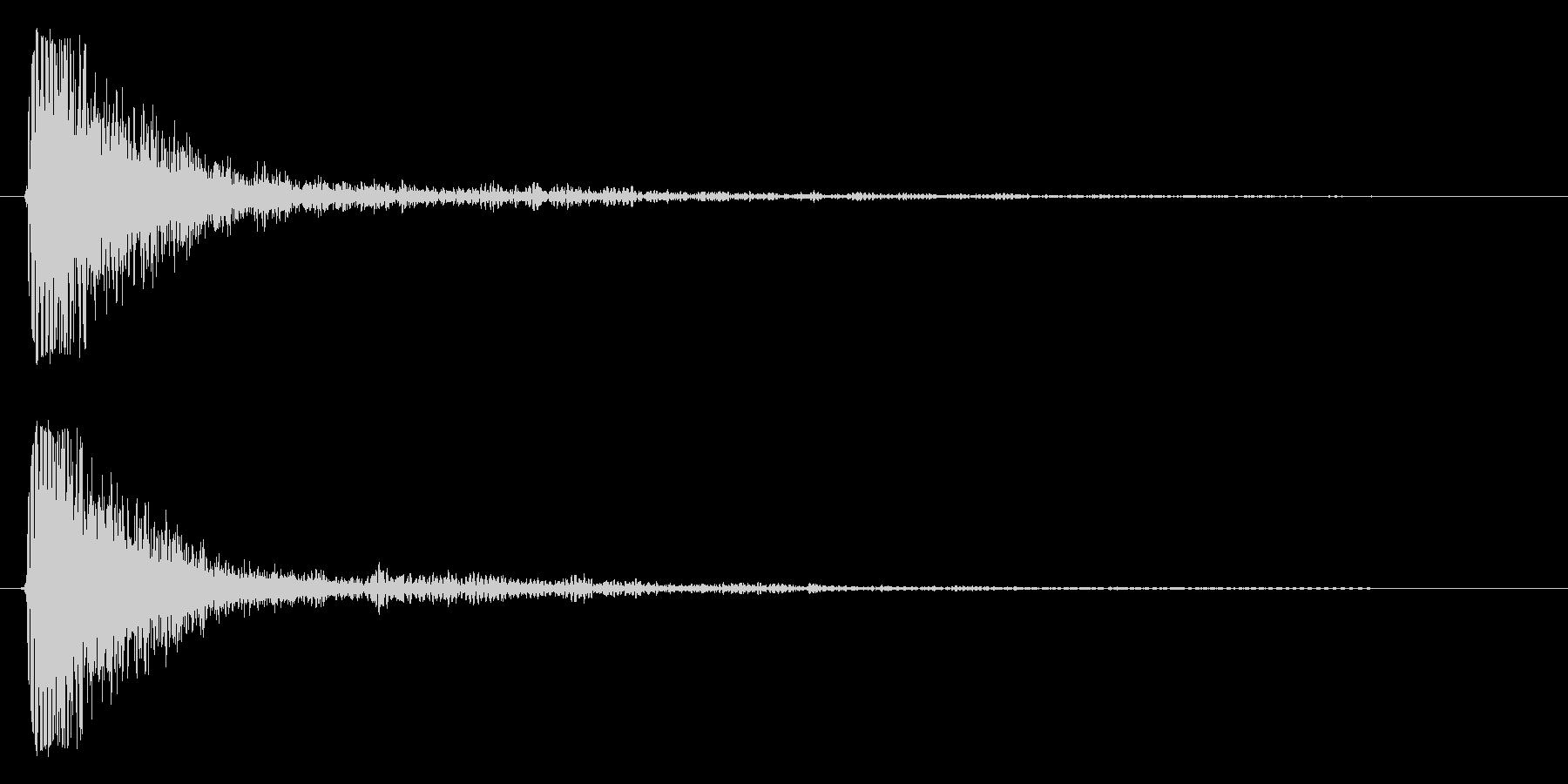 タン(スネアドラム単発)の未再生の波形