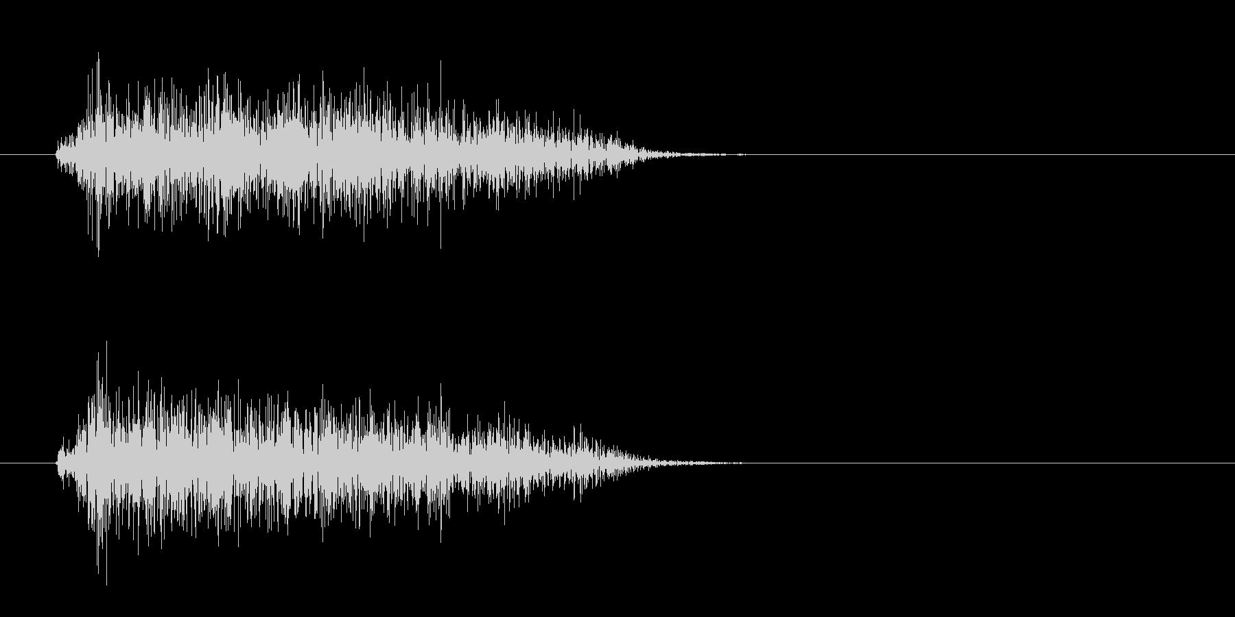 シュッ(電子音)短めの未再生の波形