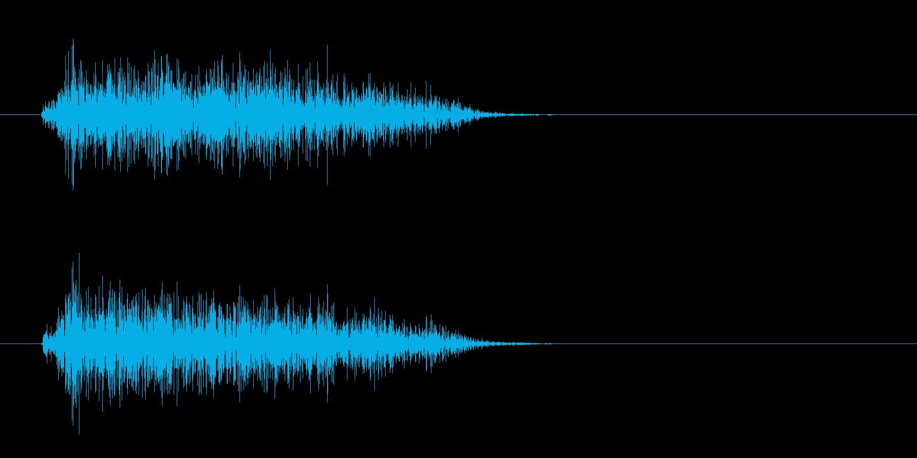 シュッ(電子音)短めの再生済みの波形
