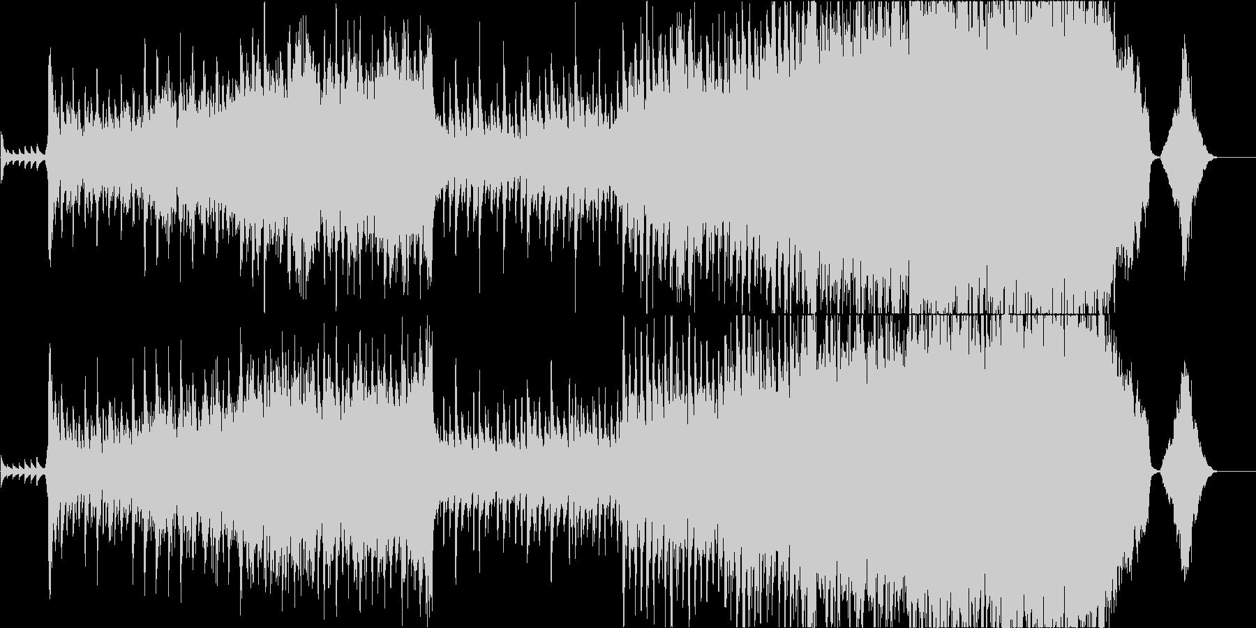オーケストラを使用した、壮大で力強い曲の未再生の波形