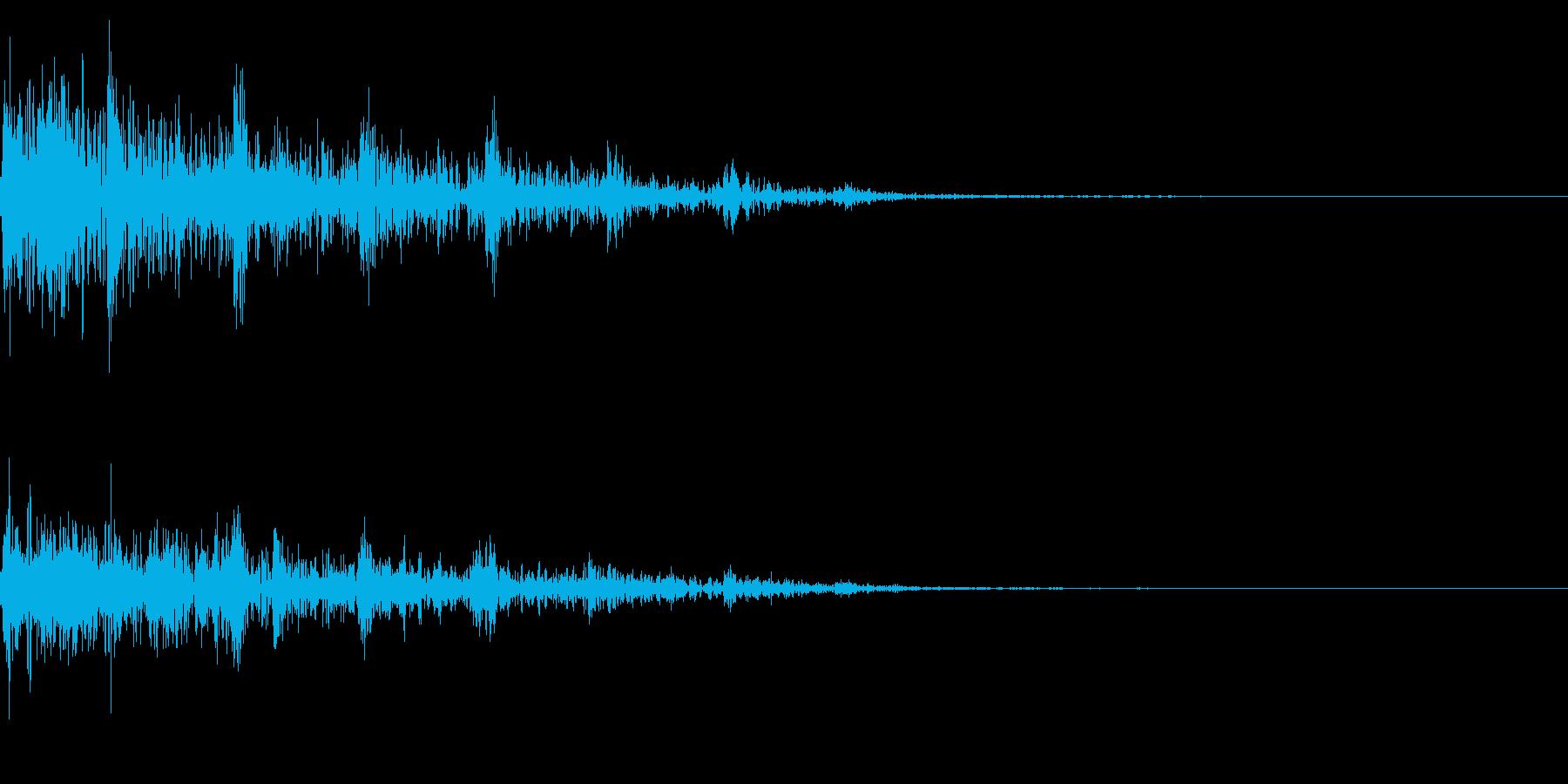 ホラー系アタック音4の再生済みの波形
