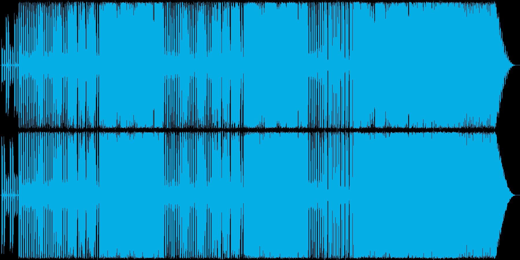 軽快で楽しいロックの再生済みの波形