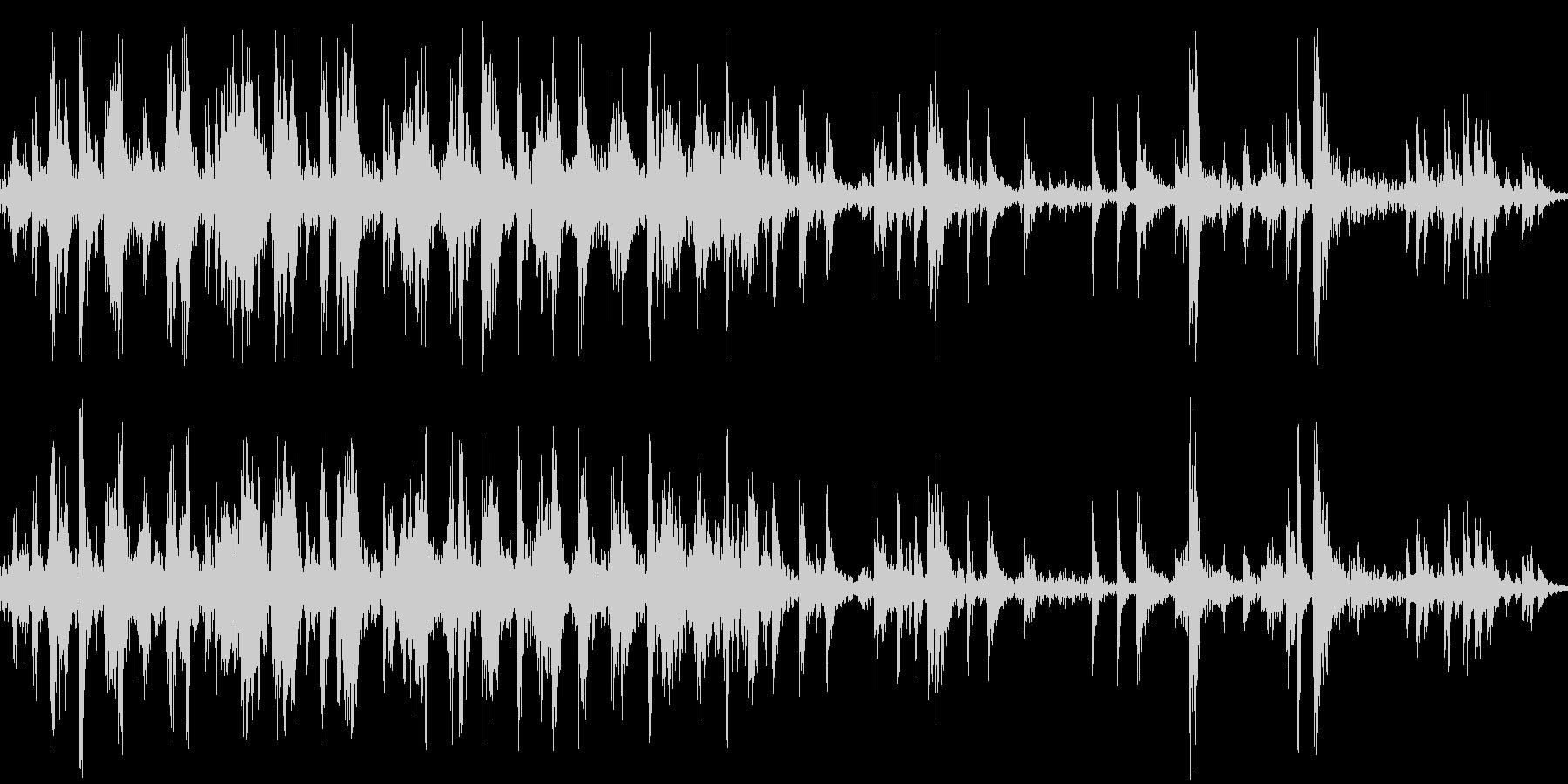 お金の計算(アナログ計算機の音)の未再生の波形