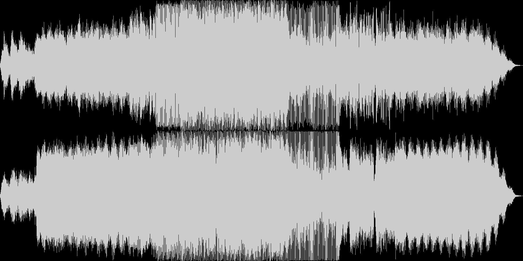 星空を流れるエレクトロなポップチューンの未再生の波形