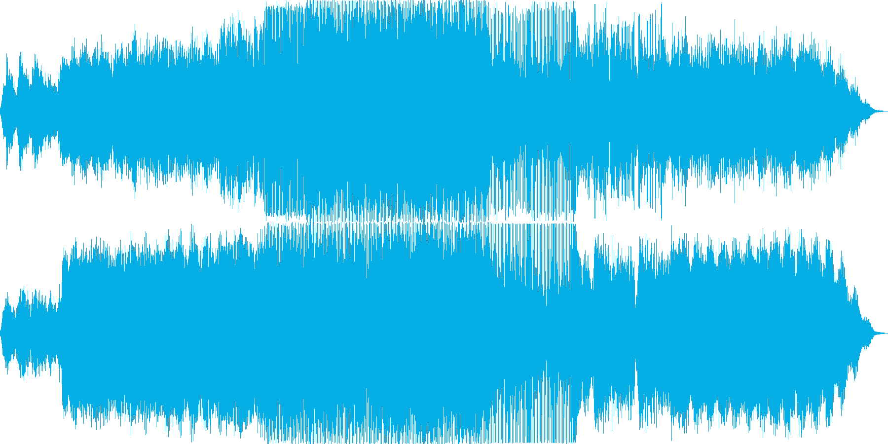 星空を流れるエレクトロなポップチューンの再生済みの波形