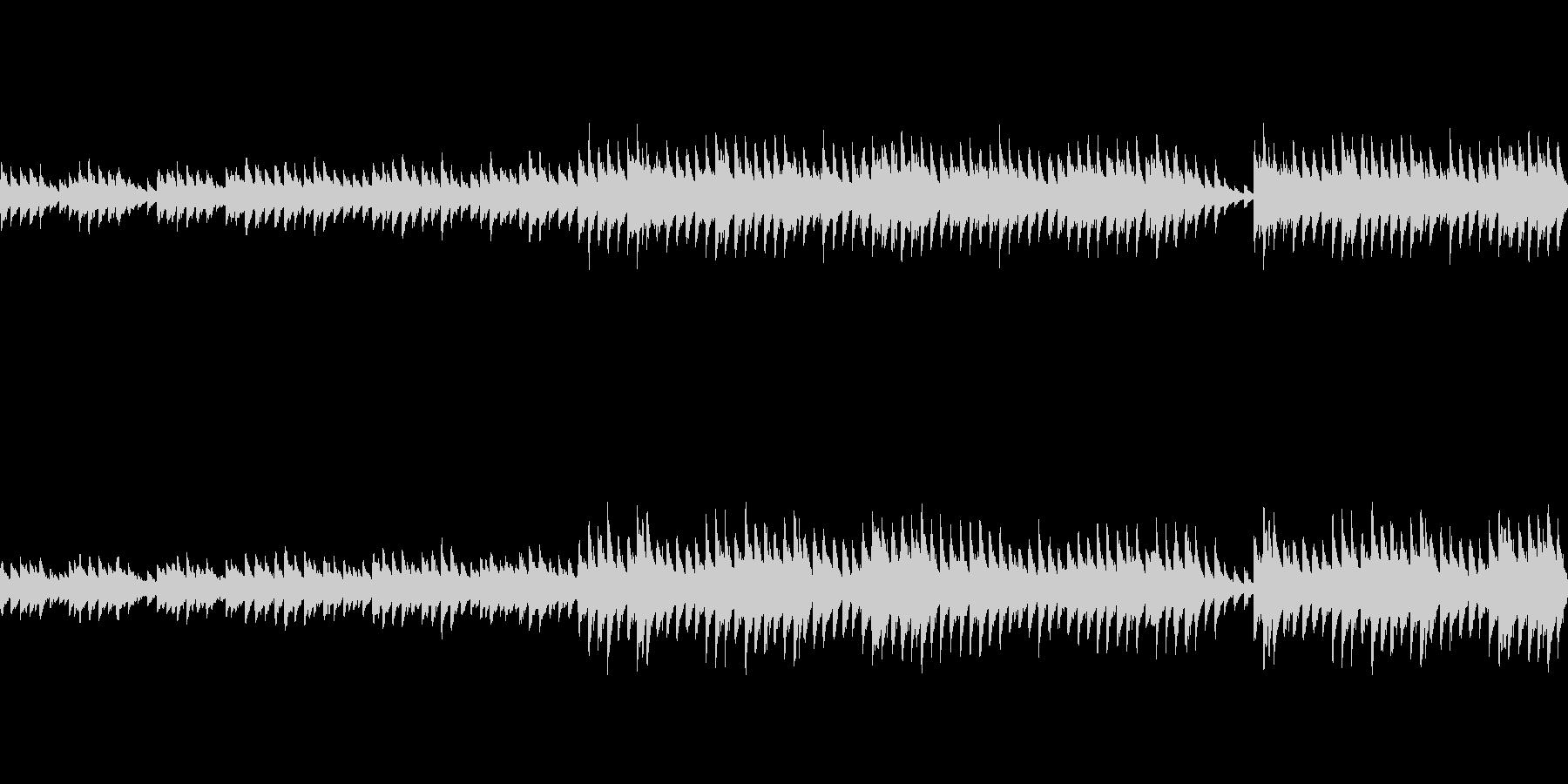 穏やかなピアノ曲1/ループ仕様の未再生の波形