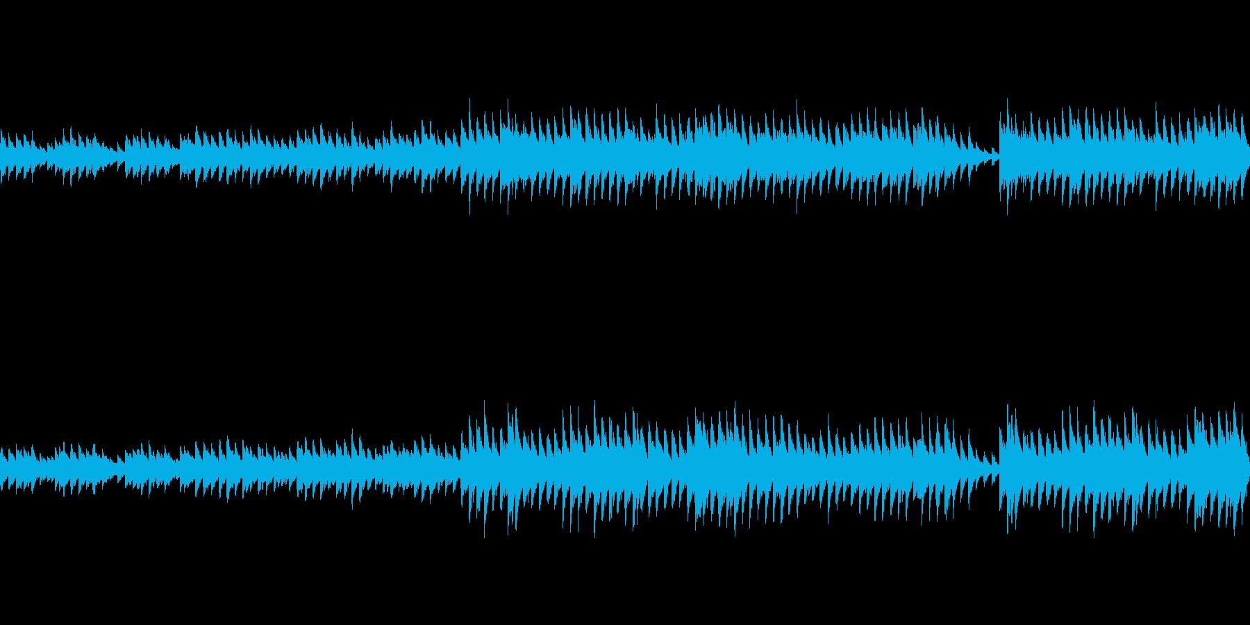 穏やかなピアノ曲1/ループ仕様の再生済みの波形