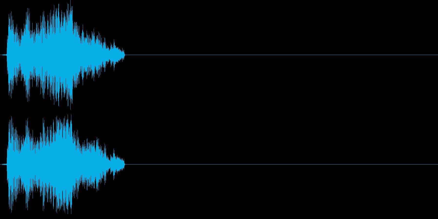 グシャッの再生済みの波形