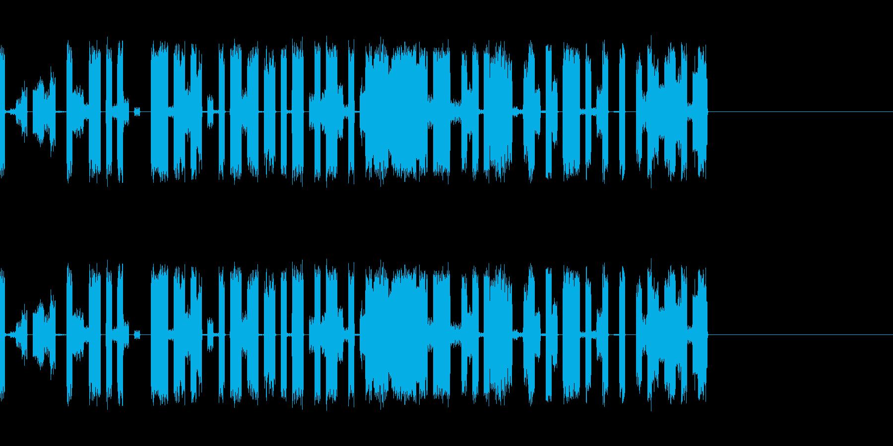 壊れたラジオやテレビなどにの再生済みの波形
