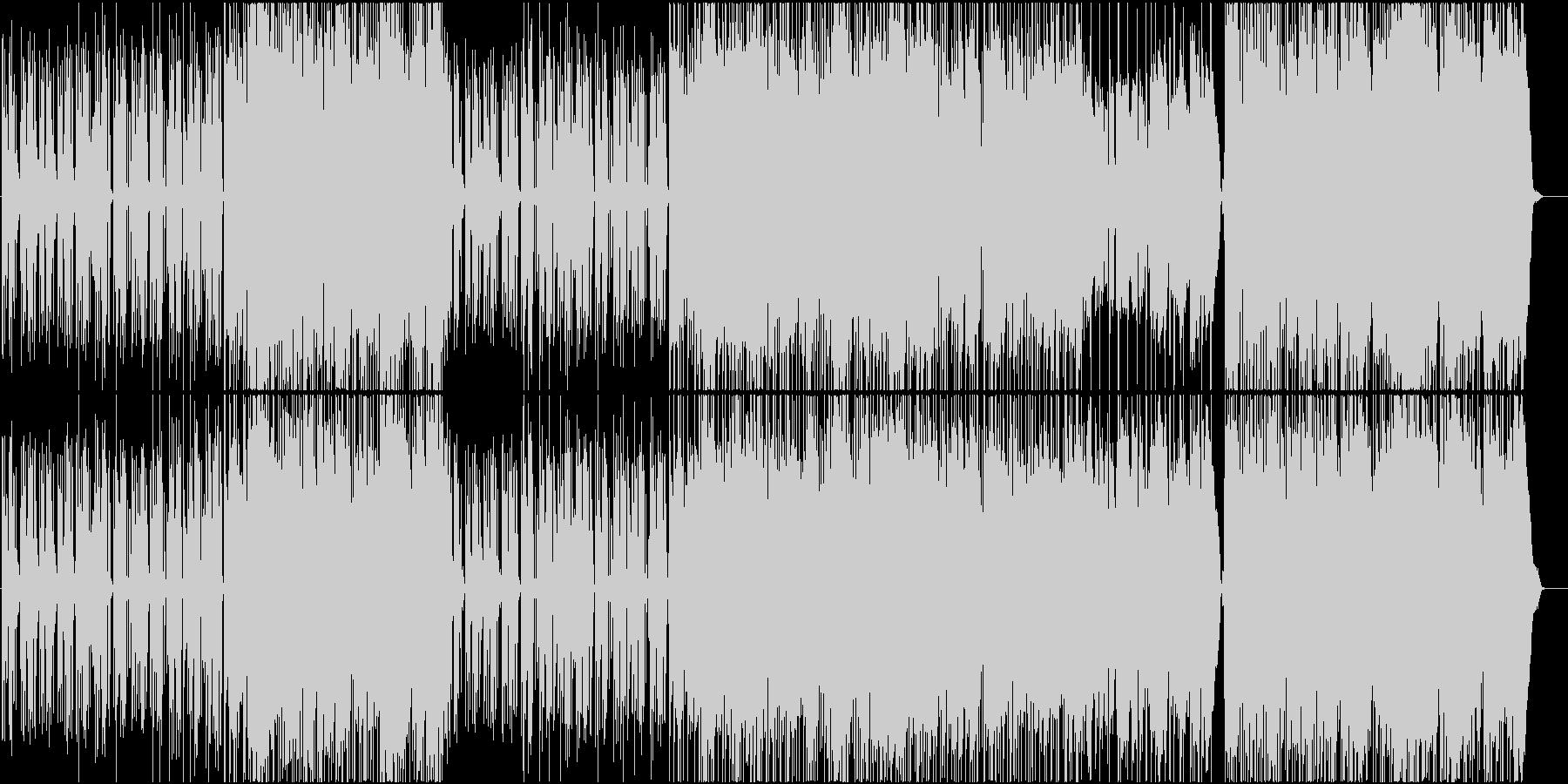 女性ボーカルの雨の似合うポップの未再生の波形