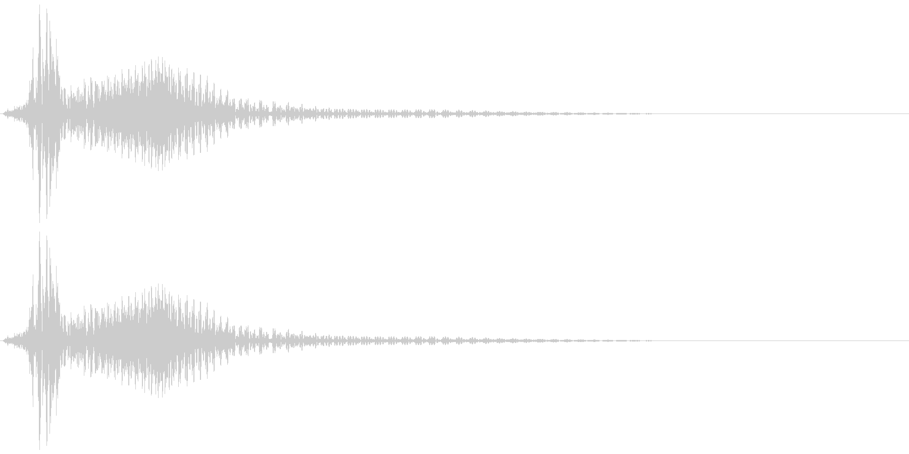 ボタン音、キャンセル音(残念、失敗)の未再生の波形