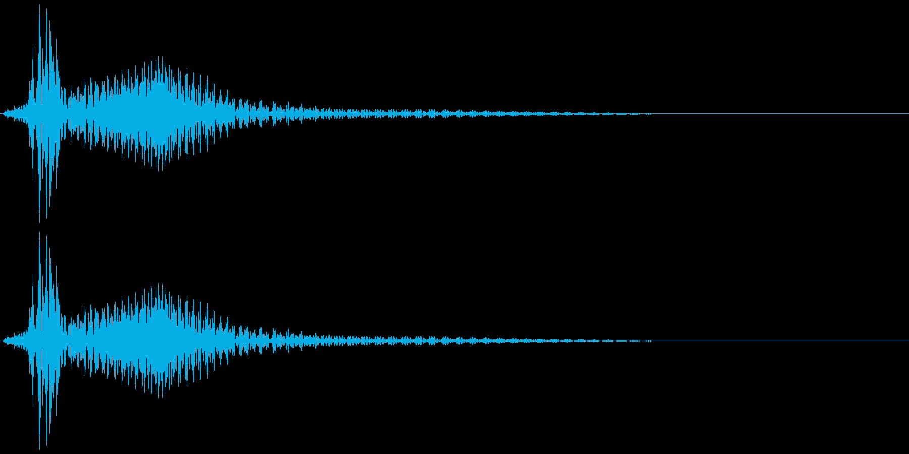 ボタン音、キャンセル音(残念、失敗)の再生済みの波形