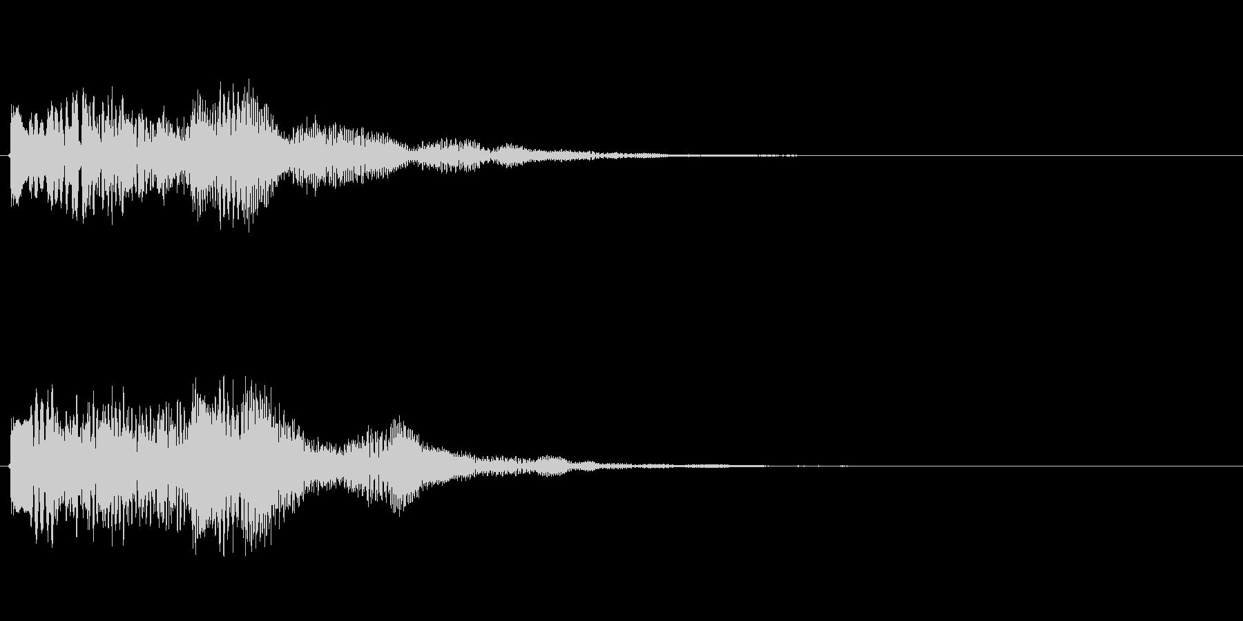 キラキラしたベルの上昇音6の未再生の波形