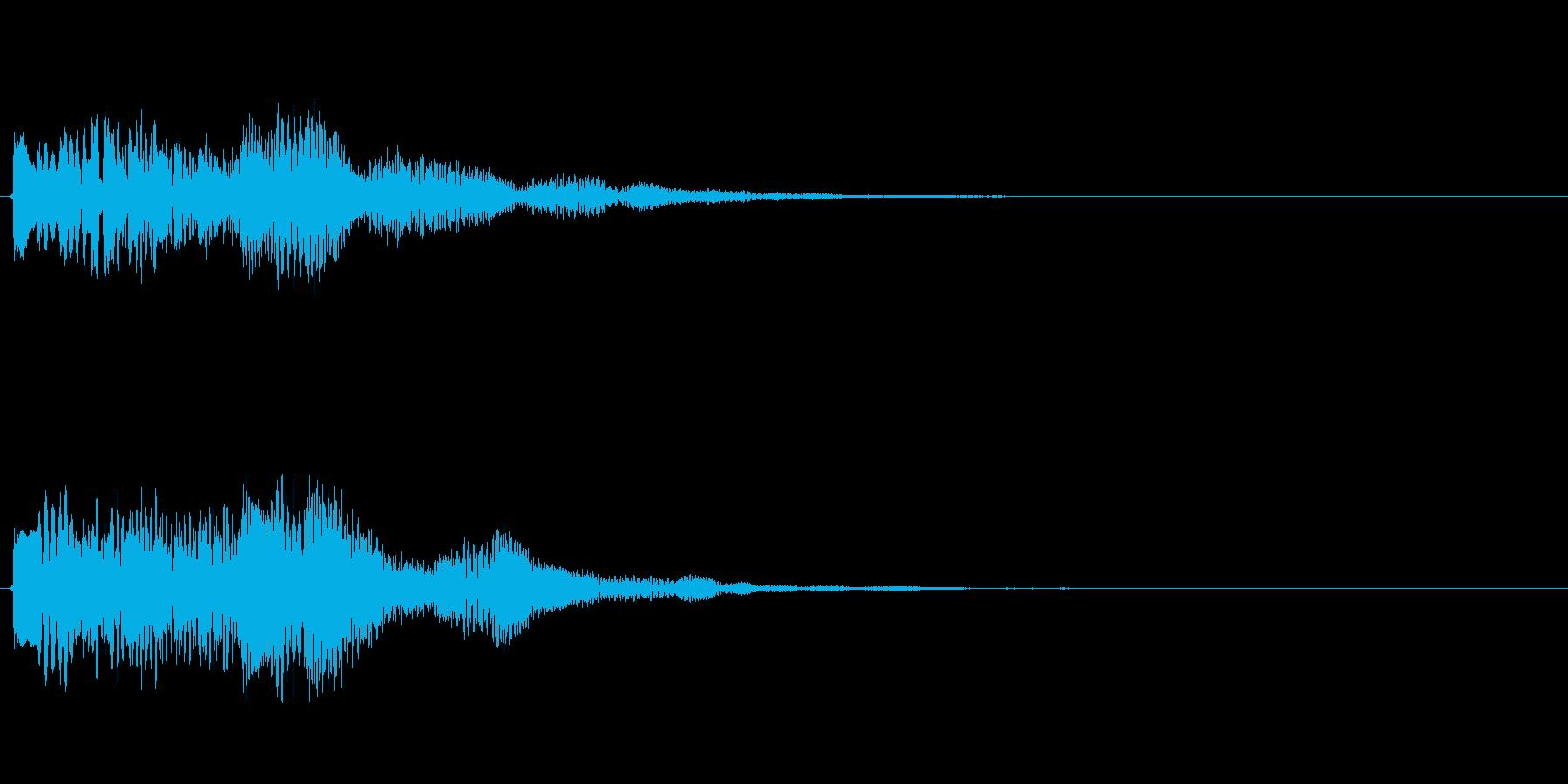 キラキラしたベルの上昇音6の再生済みの波形