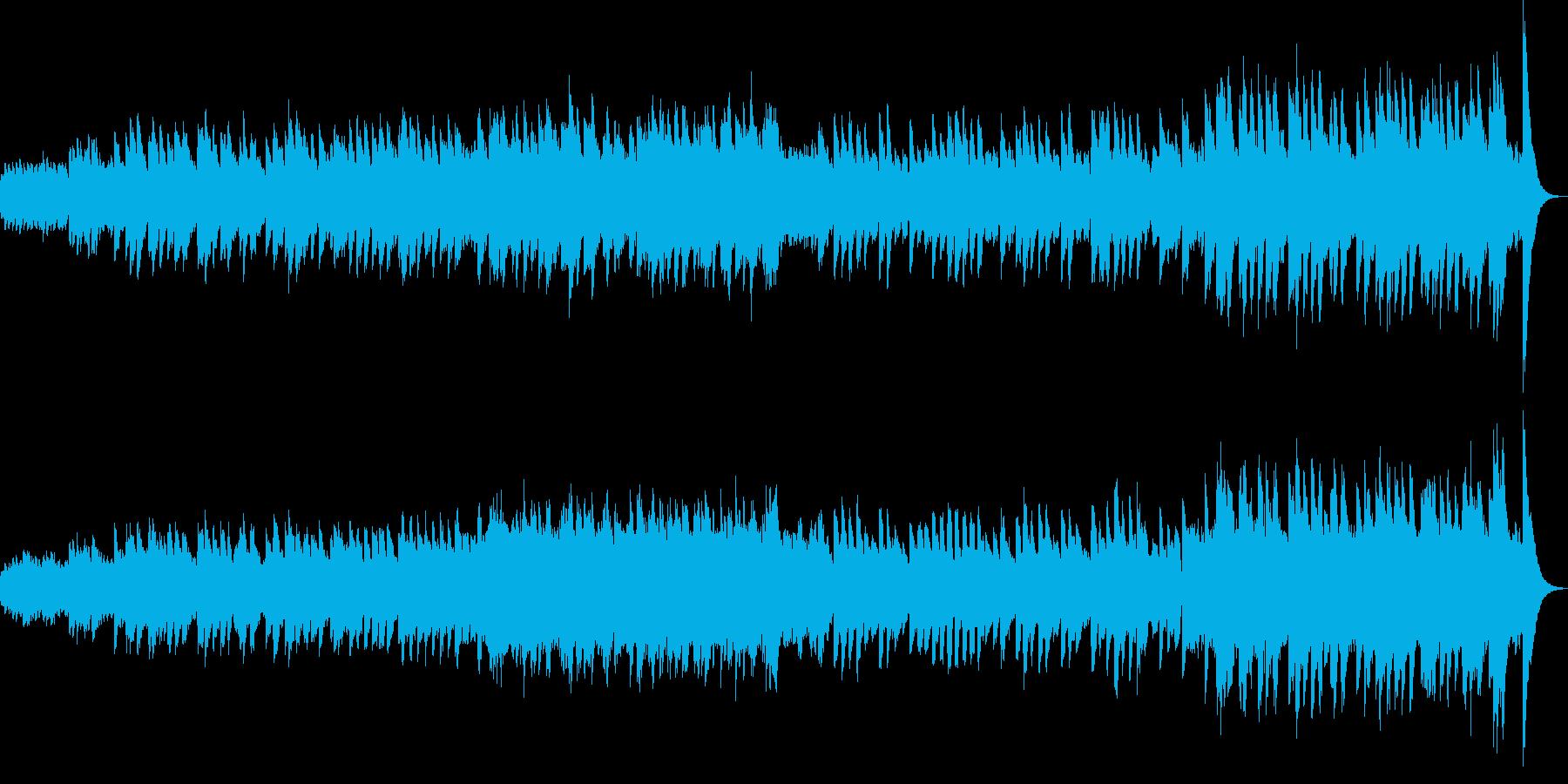 ほんわか系の明るいオルゴール曲の再生済みの波形
