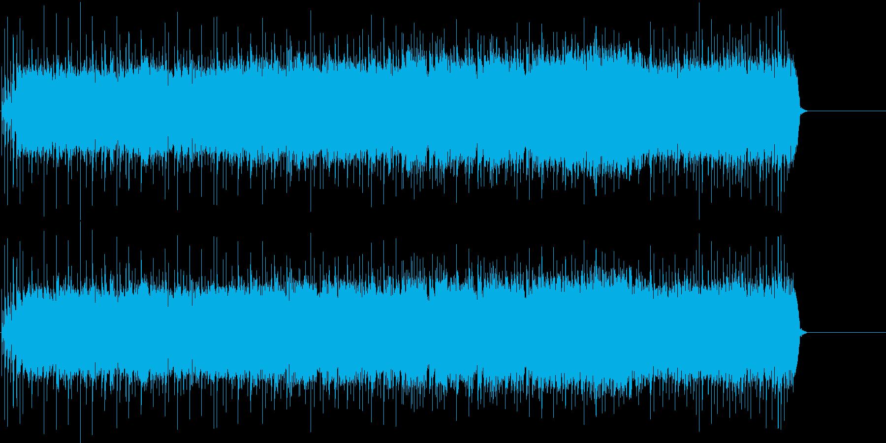 タイトなリフのマイナー・ロック/ハードの再生済みの波形
