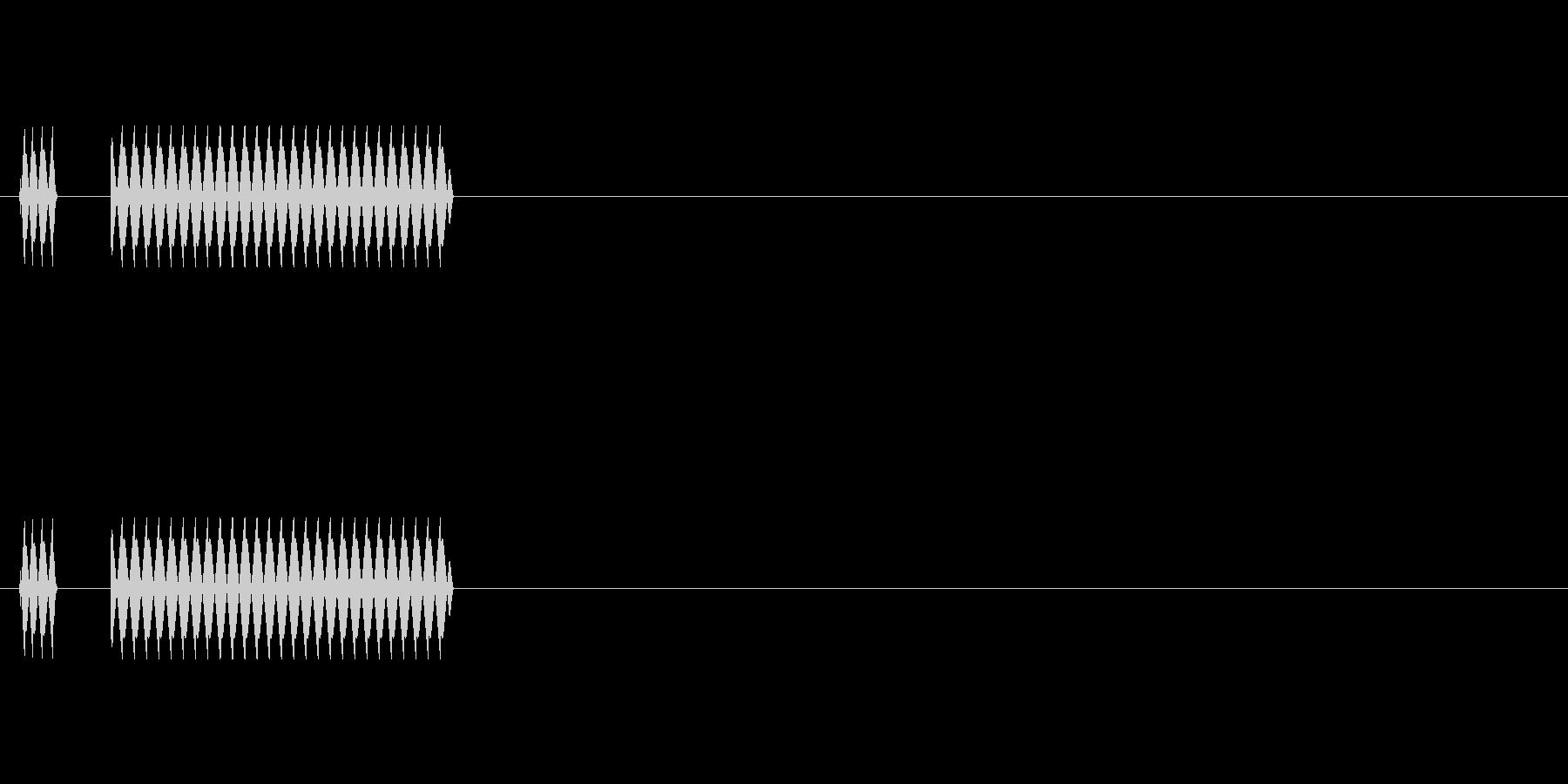 [クイズ]不正解 ブブーの未再生の波形