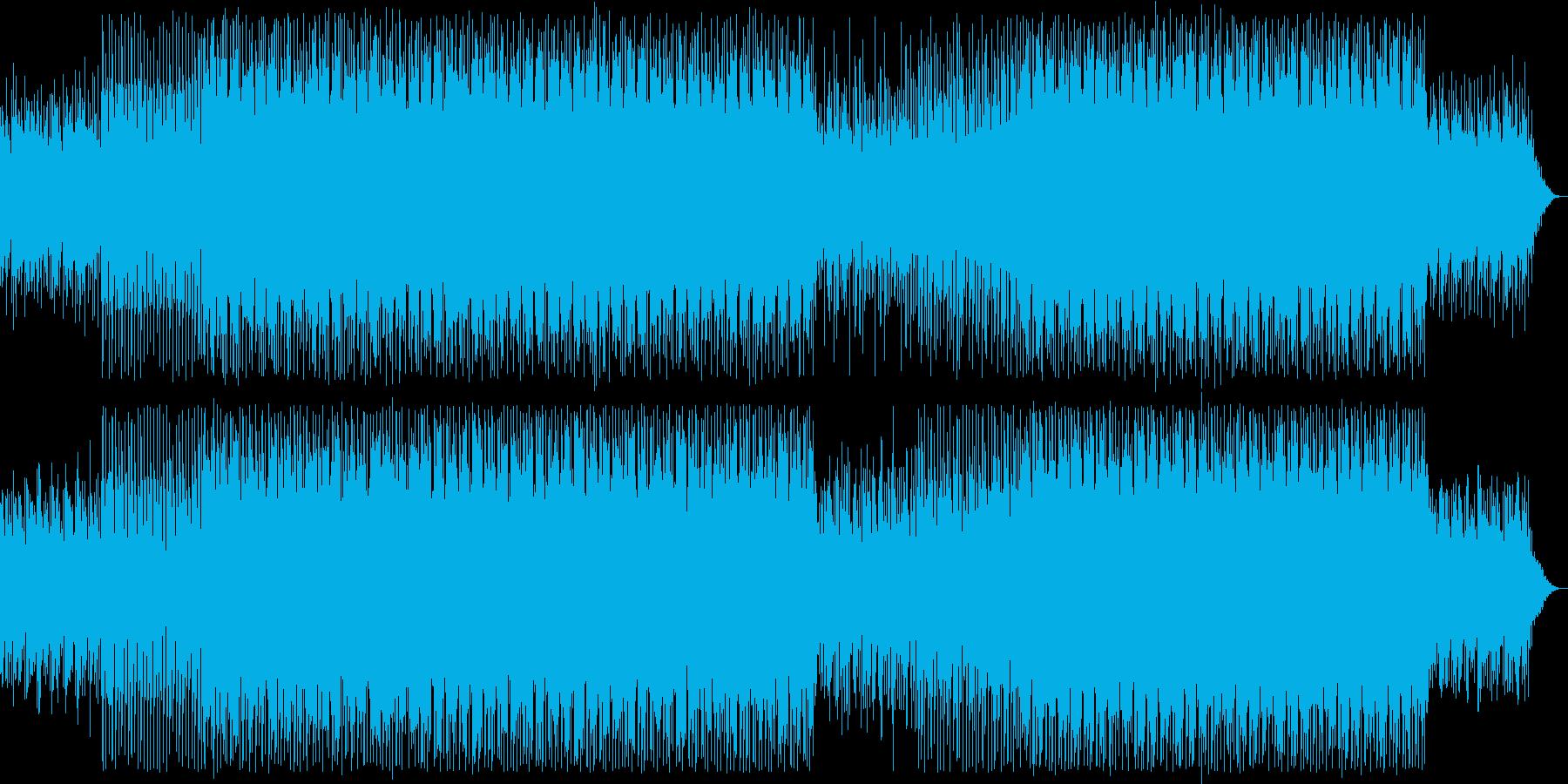 近未来的なテクノポップスの再生済みの波形