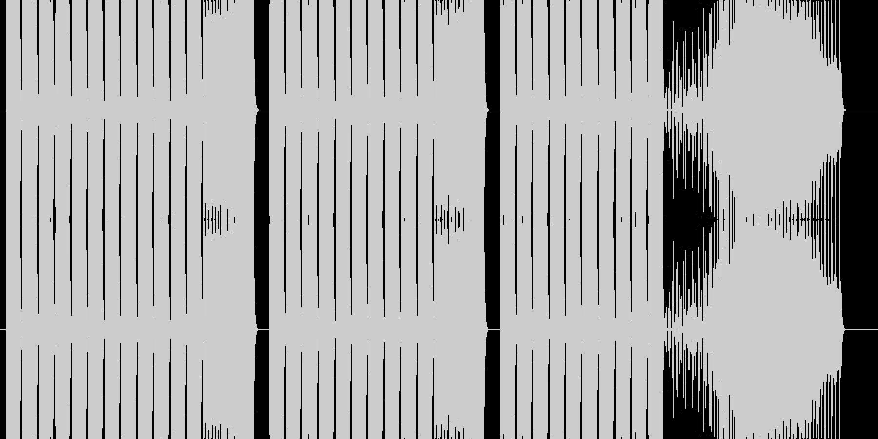 ゲーム、アプリにの未再生の波形