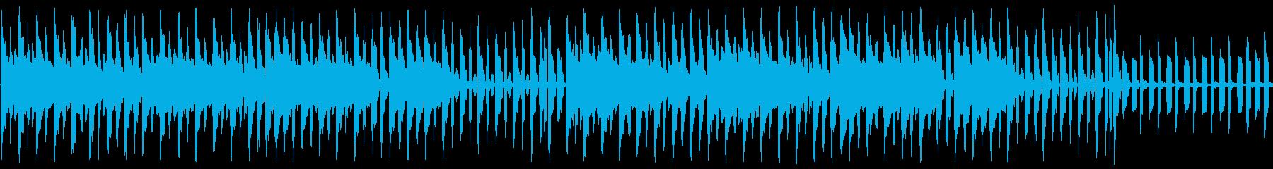 明るいショップ画面のチップチューンの再生済みの波形
