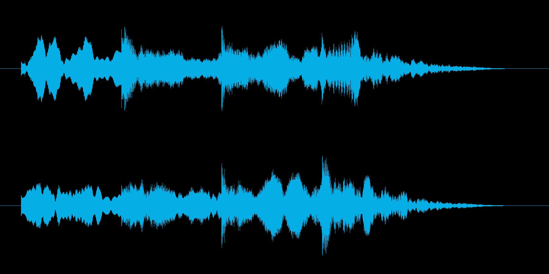 ホラー効果音 違和感 怪しい音 ピンポンの再生済みの波形