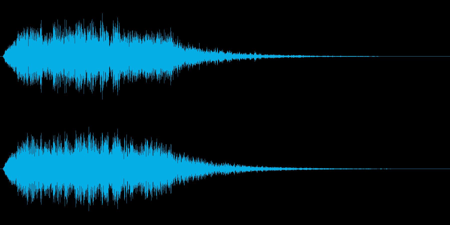 シャララ(綺麗でミラクルな効果音)の再生済みの波形