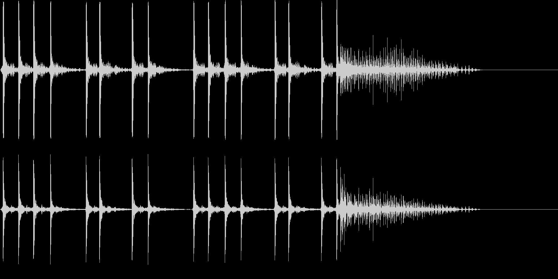 コメディ、おとぼけ系の未再生の波形