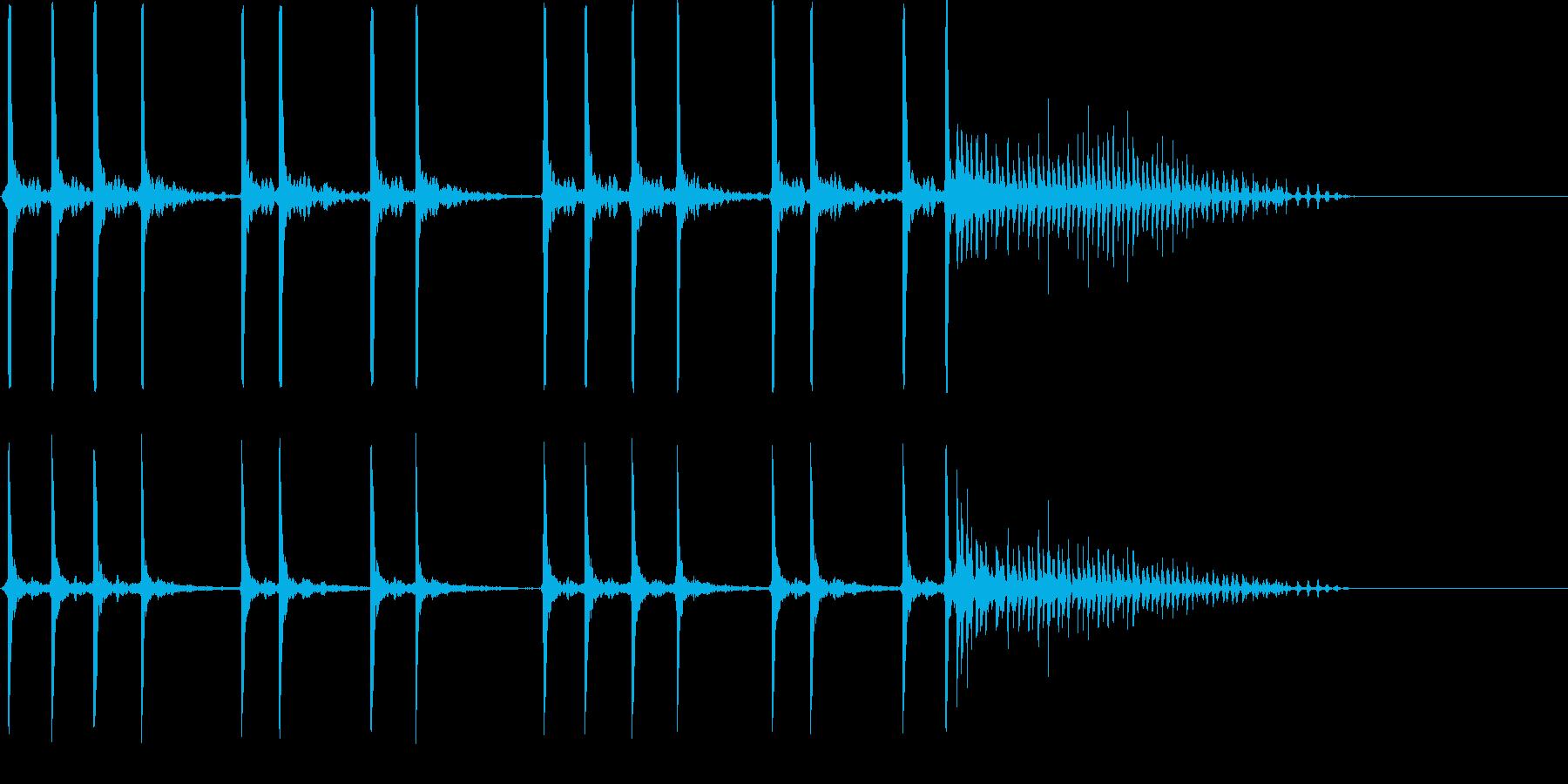 コメディ、おとぼけ系の再生済みの波形