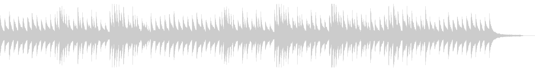 【ピアノのみ】淡々とした冷たい印象のピアの未再生の波形