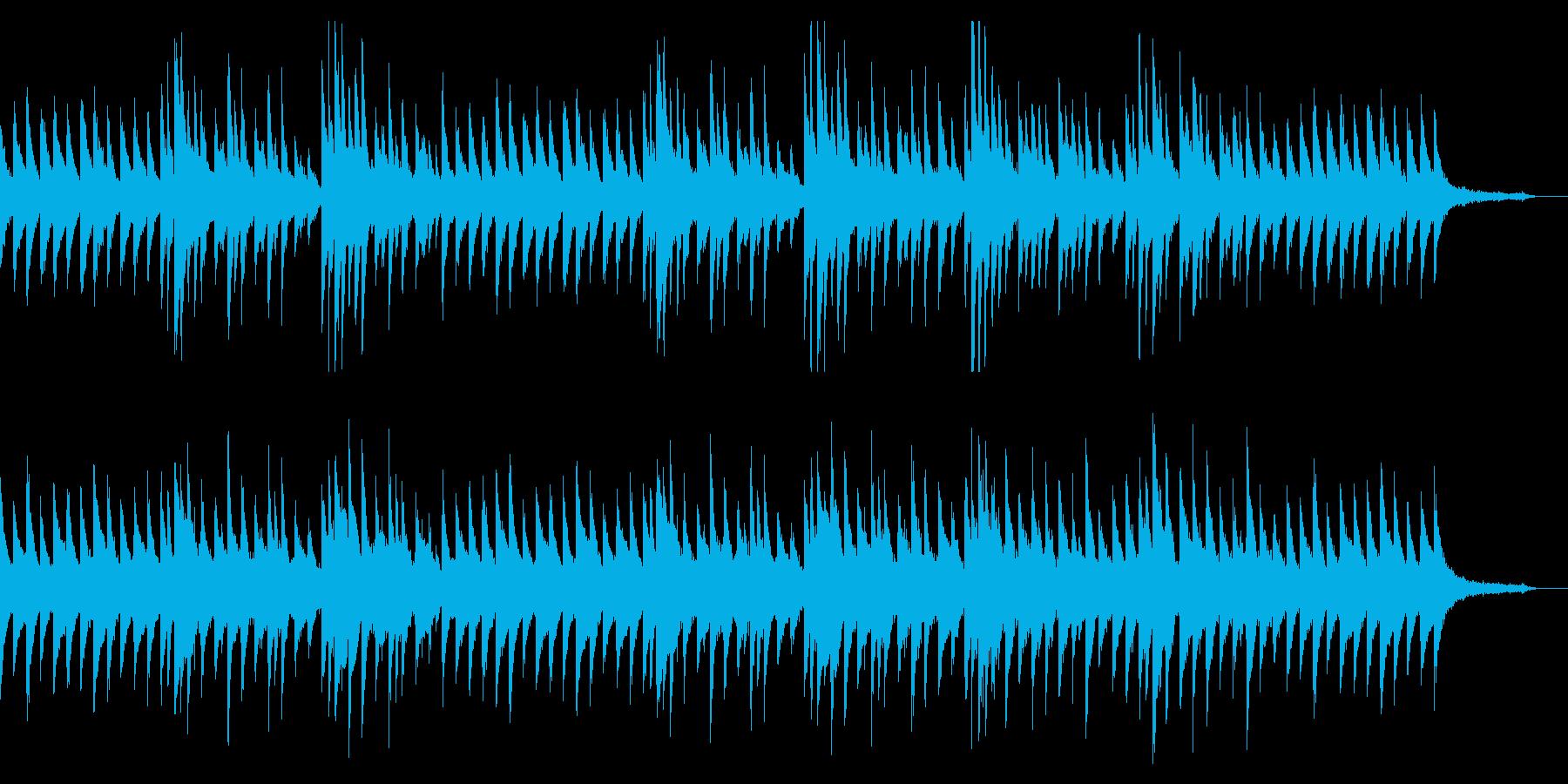 【ピアノのみ】淡々とした冷たい印象のピアの再生済みの波形