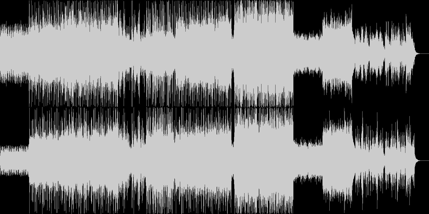 ピアノとギターのおしゃれな都会的サウンドの未再生の波形