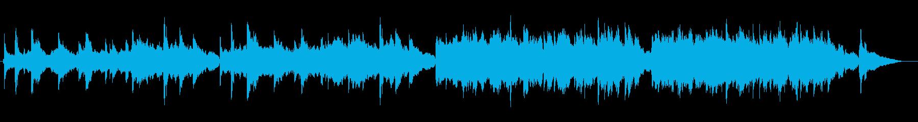 優しく主張のないピアノストリングスBGMの再生済みの波形