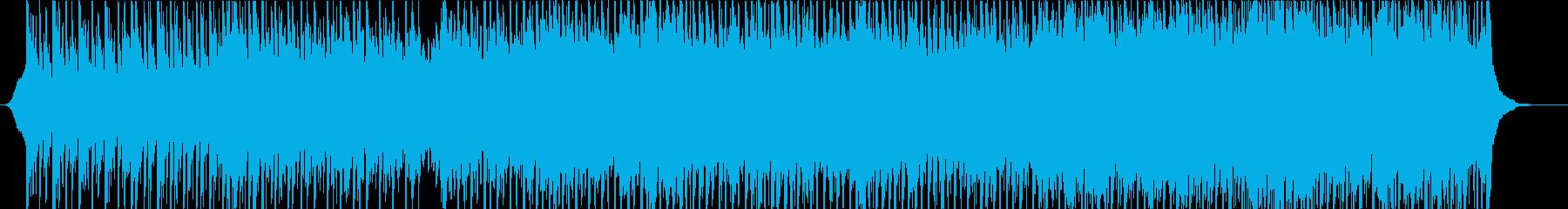 穏やかポジティブな4つ打ちポップスの再生済みの波形