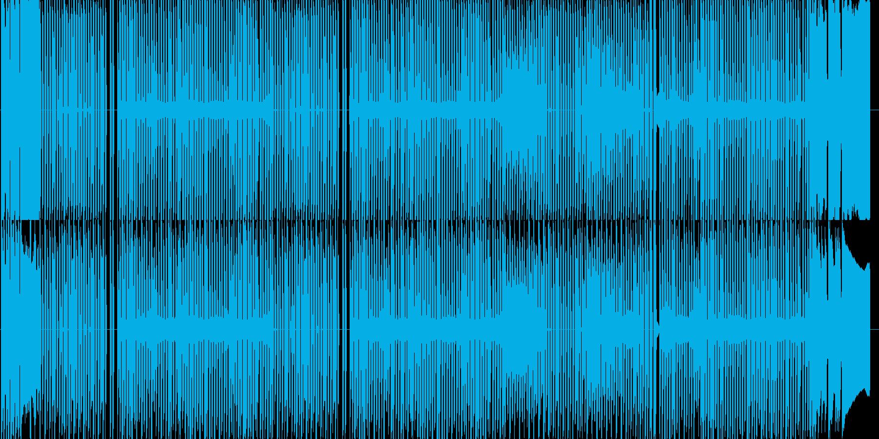 ファミコン和風アクションチップチューンの再生済みの波形