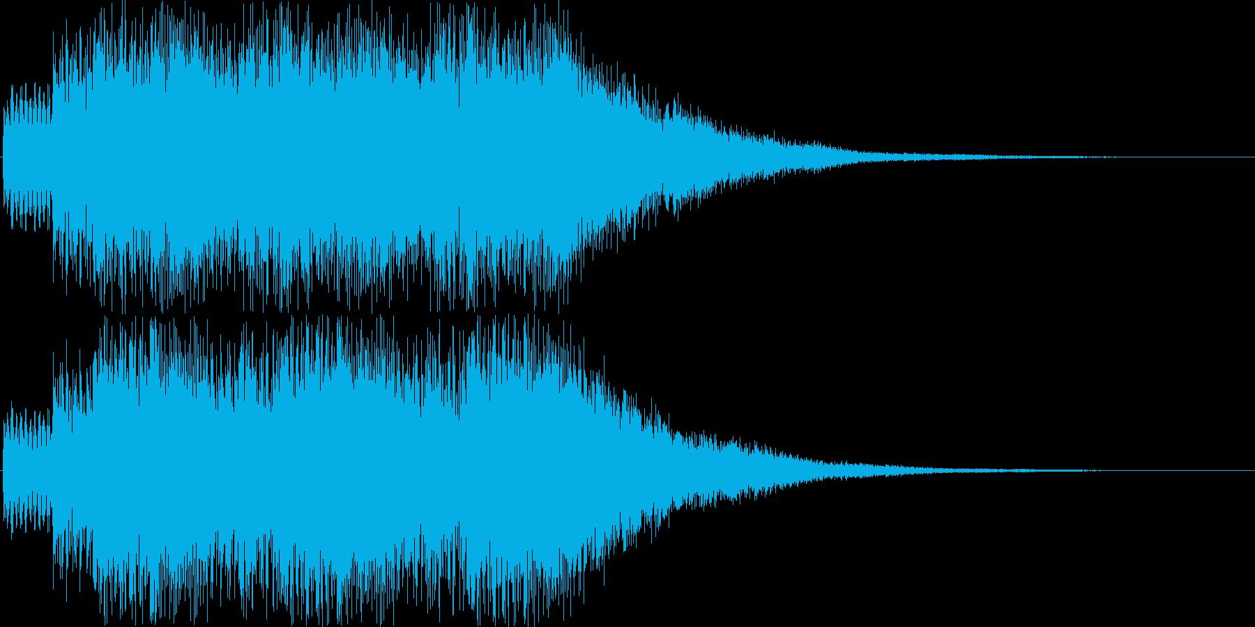 カジノゲームのカウントアップ音の再生済みの波形
