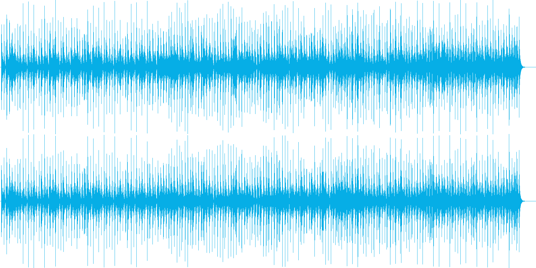 リズムゲーム風 とにかく軽快陽気の再生済みの波形