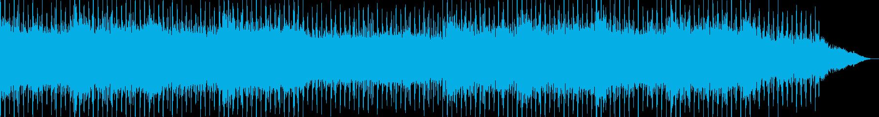近未来SFサスペンス風シンセBGMの再生済みの波形