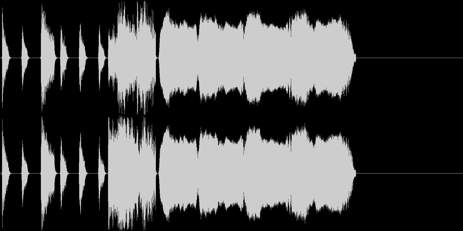 【パワフル/ショートジングル】の未再生の波形