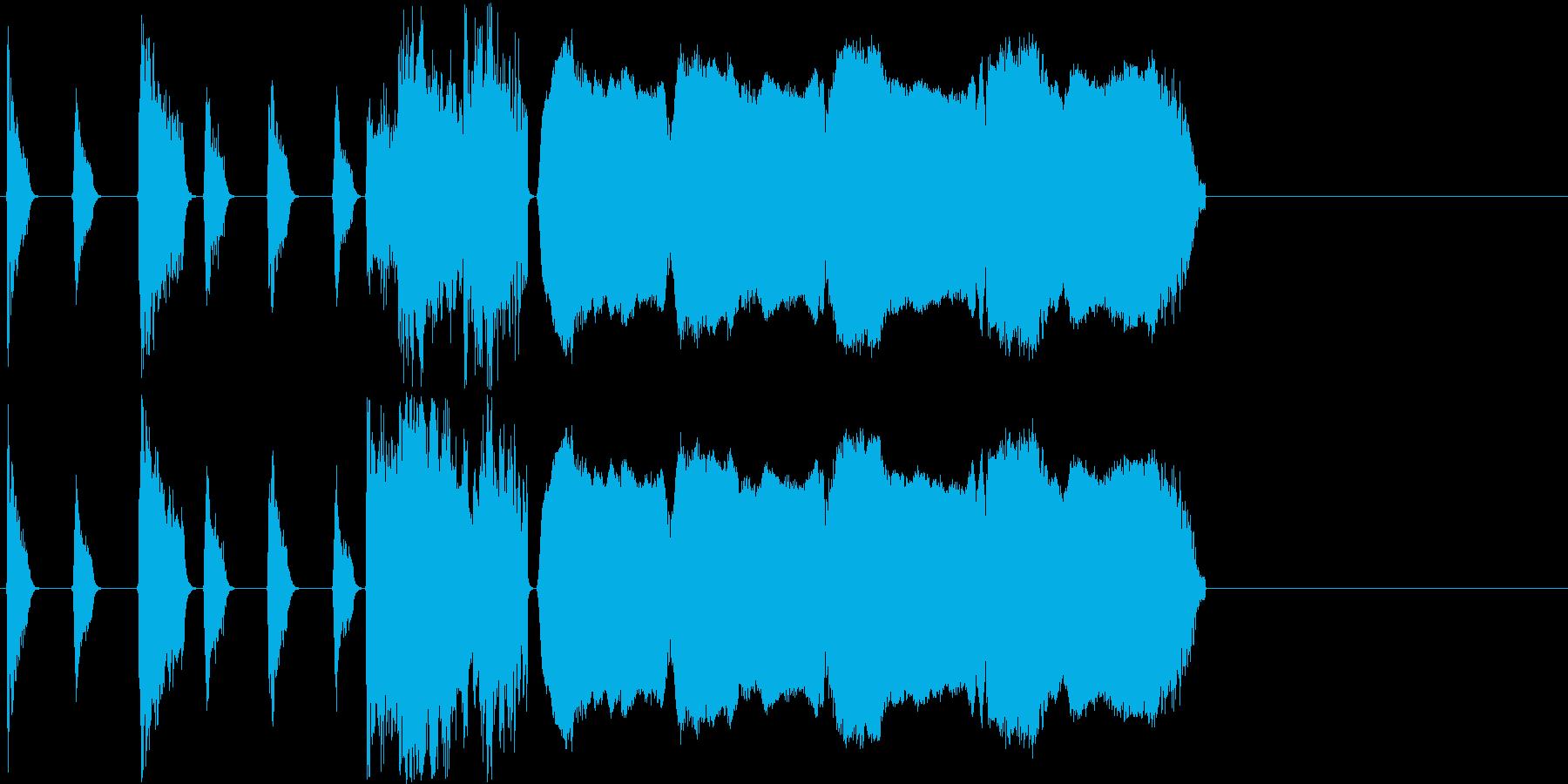 【パワフル/ショートジングル】の再生済みの波形