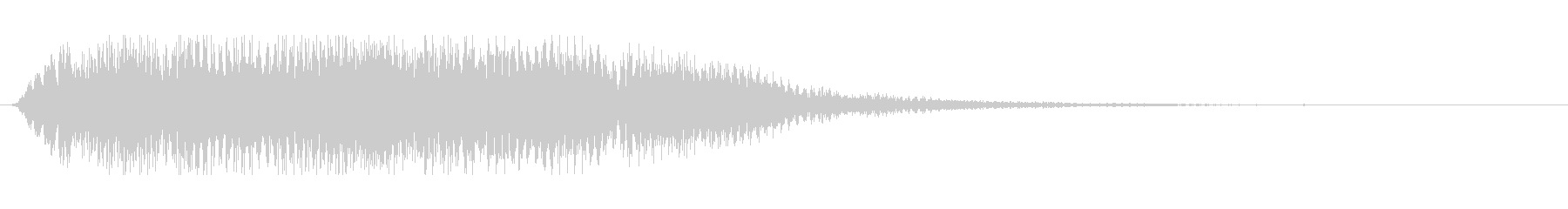力強いタイトルアップ音の未再生の波形