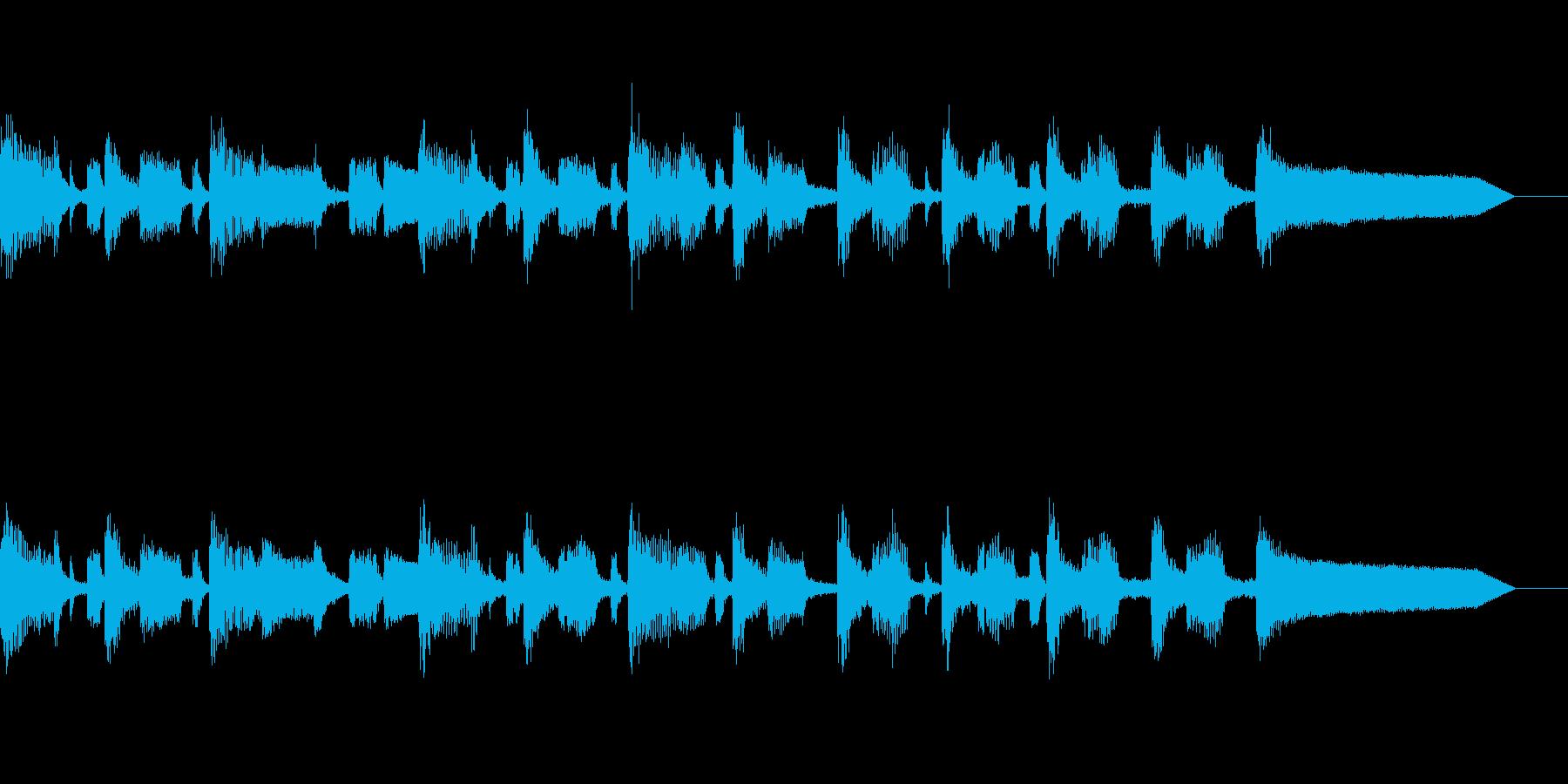落ち着いたジャズ風BGMの再生済みの波形