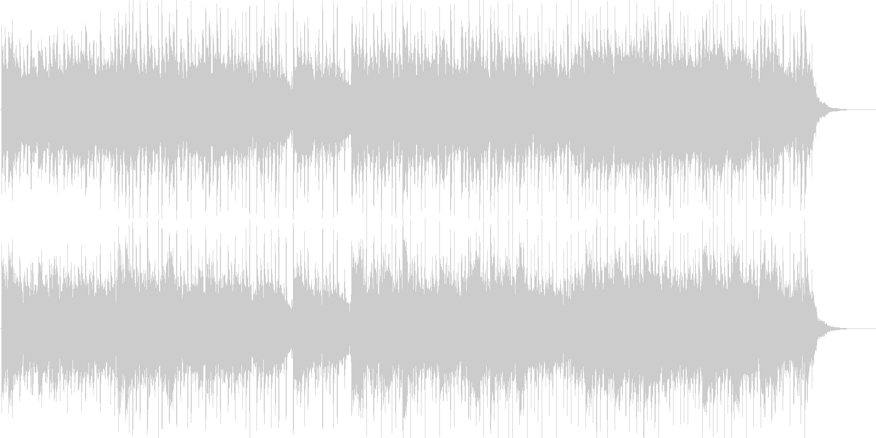 優しいアコースティックギターBGMの未再生の波形