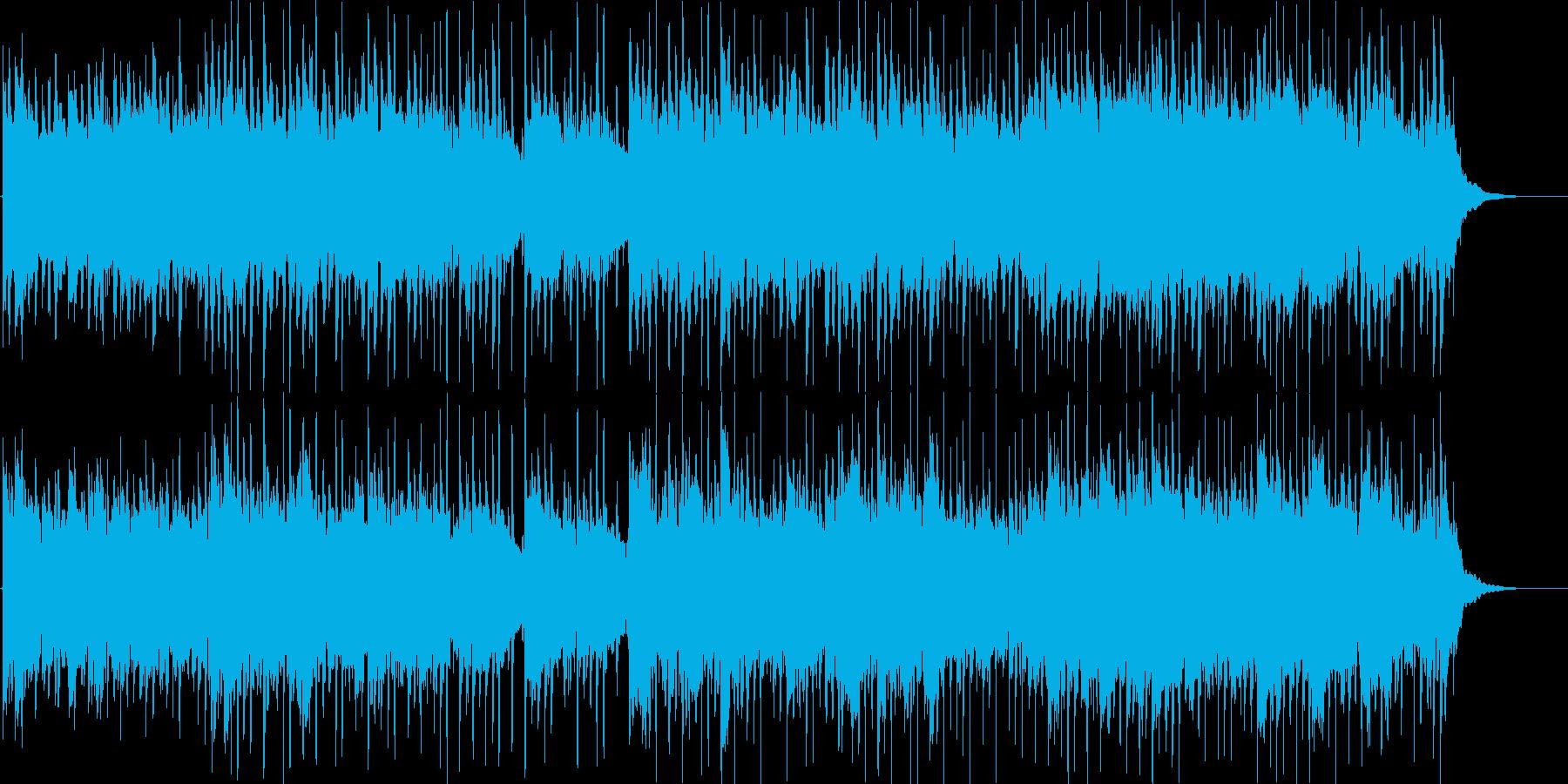 優しいアコースティックギターBGMの再生済みの波形