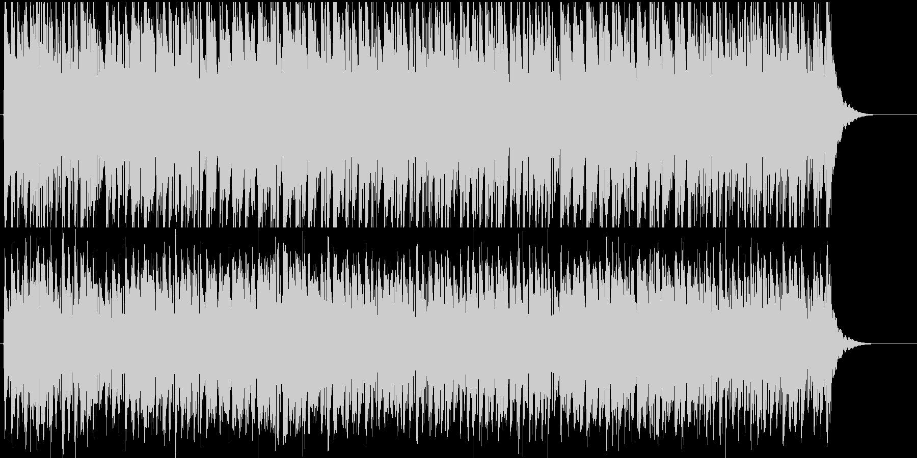 コミカルな子供向け行進曲風BGMの未再生の波形