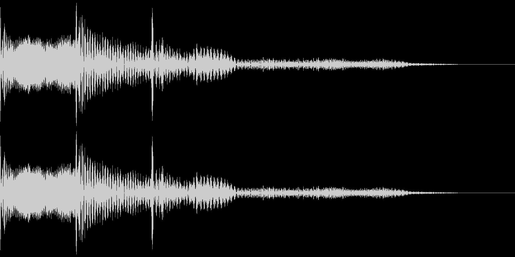 木琴で作った「キャンセル」の効果音の未再生の波形