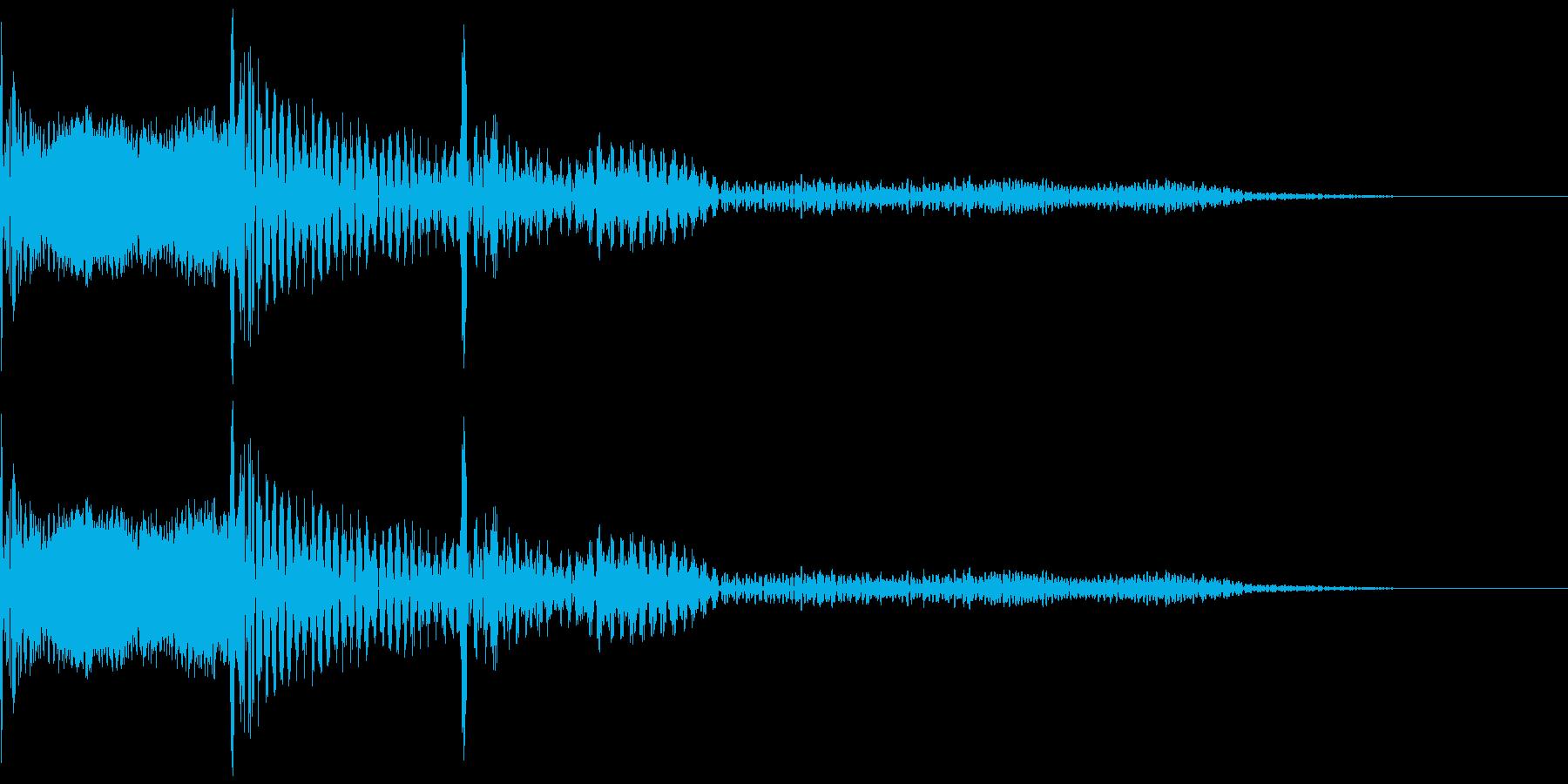 木琴で作った「キャンセル」の効果音の再生済みの波形